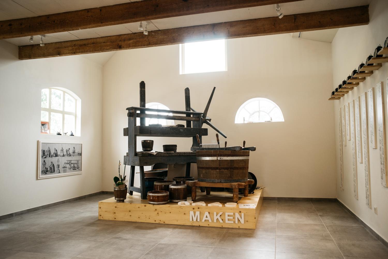 ontwerp tentoonstelling kaasmuseum kaas maken