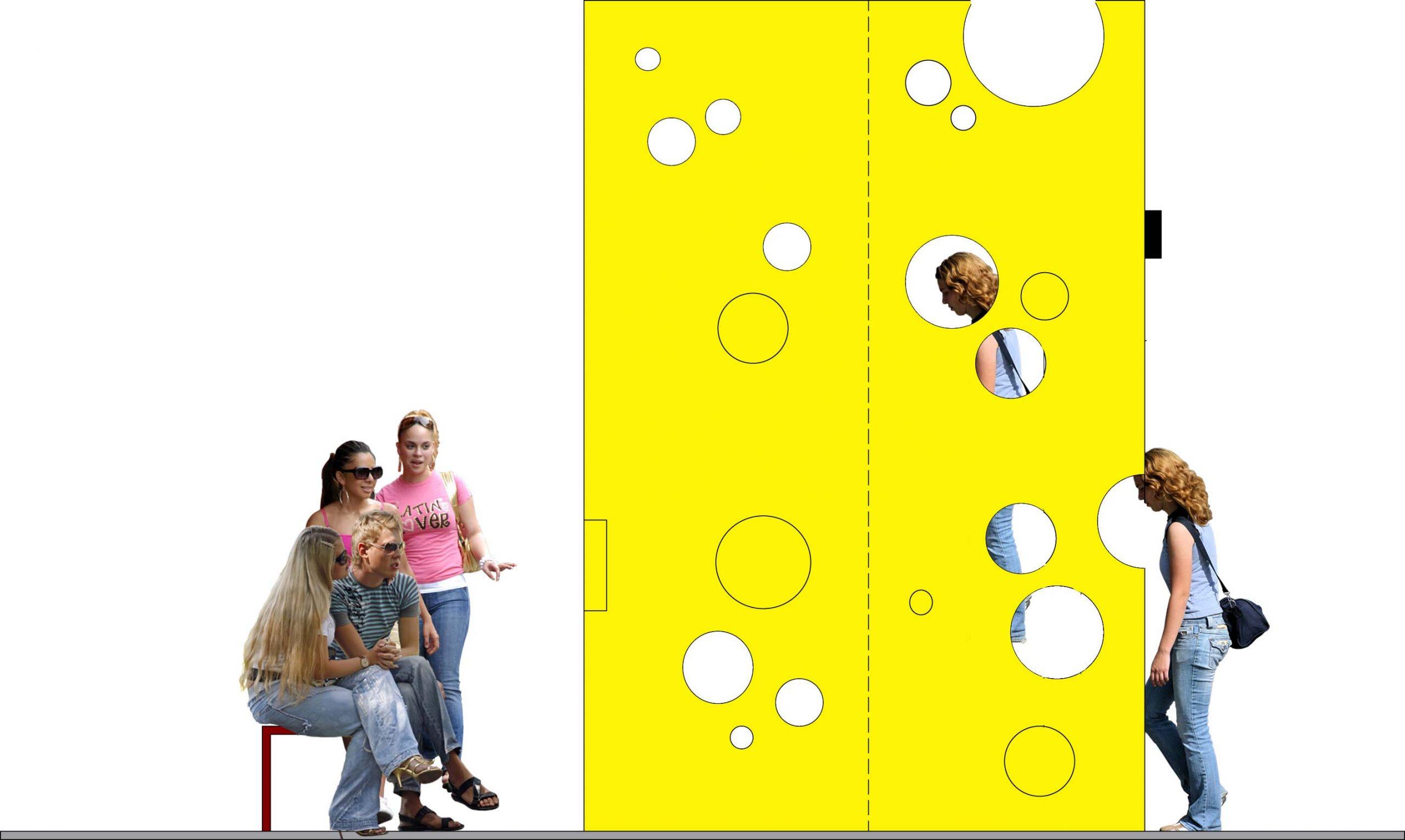 ontwerp geel trap kaasmuseum