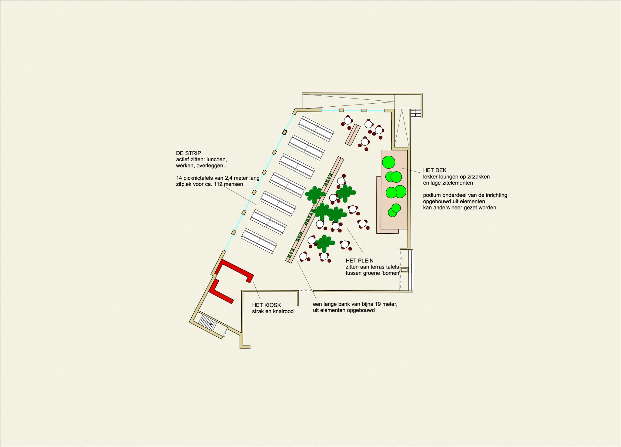 interieurontwerp school plattegrond aula