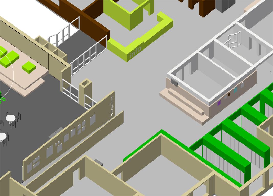 overzicht interieurontwerp verkeersruimten school